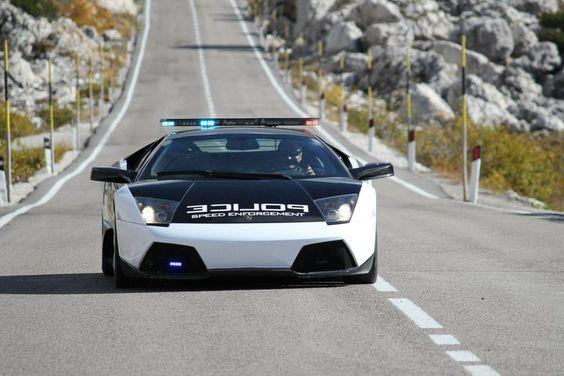 Lamborghini Police Car in the rear view mirror? Just shift your Bugatti Veyron 16.4 into 4th!