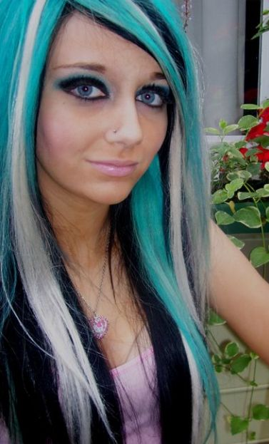 Incredible Black And Blonde Turquoise And Dark Brown On Pinterest Short Hairstyles Gunalazisus