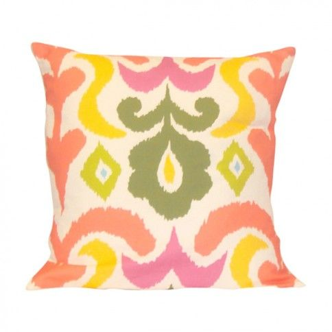 Multi-Colored Ikat Pillow