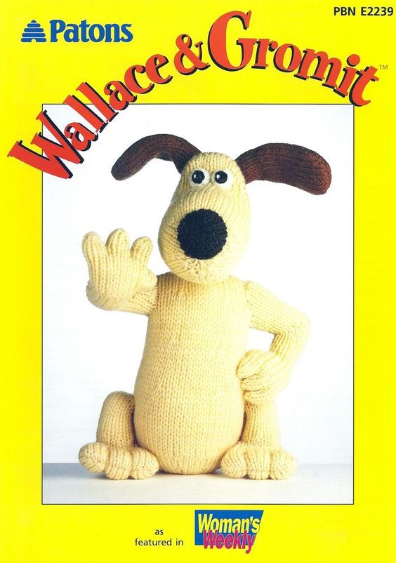Wallace & Gromit - Gromit DK Knitted Toy Pattern PBN E2239 ...