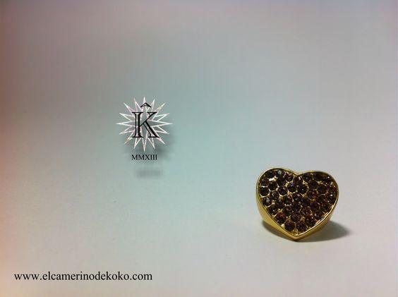 Nueva colección de bisutería de El camerino de Kokô. Hearth Ring