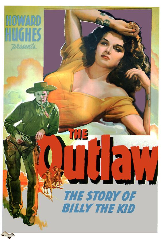 """""""The Outlaw"""". Jane Russell, Jack Beutel, Thomas Mitchell and Walter Huston. Directed by Howard Hughes. Directed by Howard Hughes, United Artists, 1943."""