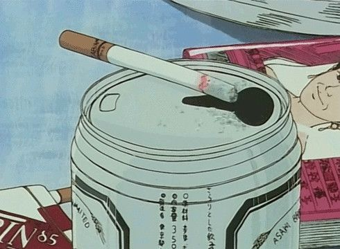 cigarette, grunge, and anime image