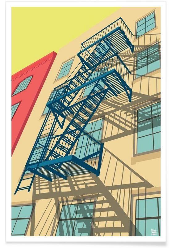 Greenwich Village New York City en Affiche premium par Remko Heemskerk   JUNIQE