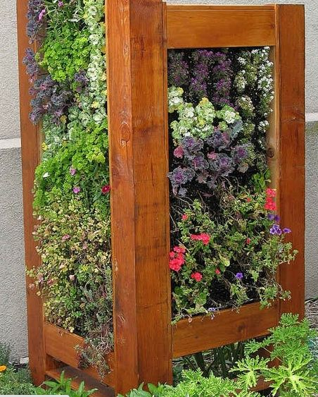 Hide a AC Unit with a vertical Garden