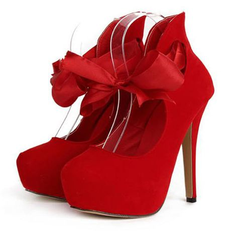 red high heel shoes with ankle strap | Head Over Heels | Pinterest ...