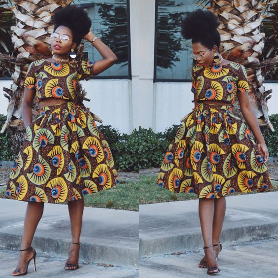 Ankara Top and Skirt african print african Skirt by Shoplolaster