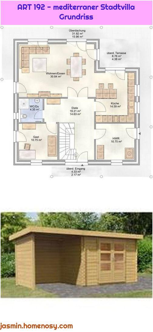 Art 192 Mediterraner Stadtvilla Grundriss Grundriss Stadtvilla Villa