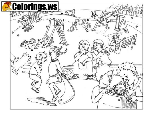 Playground 08 Playground Coloring Pages If You Want To Set Up