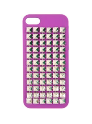 Purple Pyramid Stud iPhone 5 Case