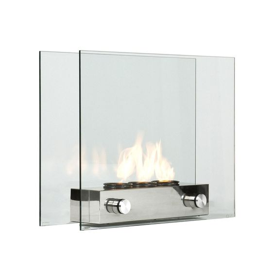 Handsome Elegant And Portable This Contemporary Fireplace Has Floating Glass Panels Held In