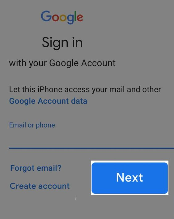 configuration of Gmail email account of apple-  select  Click 'Next'.