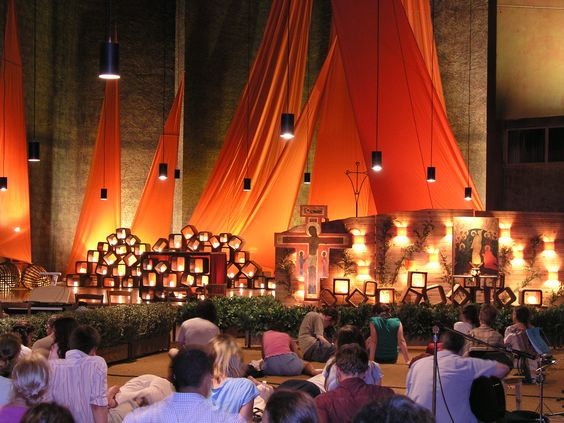 Taize is a form of Christian meditation. Sacred space.