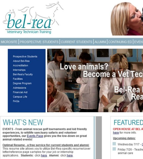 Animal Care Assistant Sample Resume Awesome Belrea Institute Of Animal Technology 1681 S Dayton Street Denver .