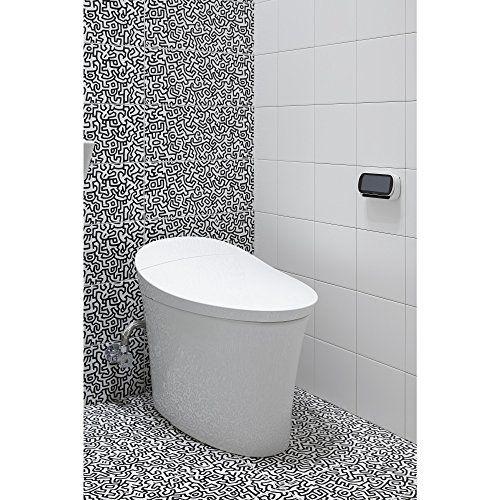 Kohler K 5401 0 Veil Skirted 1 Piece Smart Dual Flush Toilet In White Wall S Furniture Decor Dual Flush Toilet Toilet One Piece Toilets