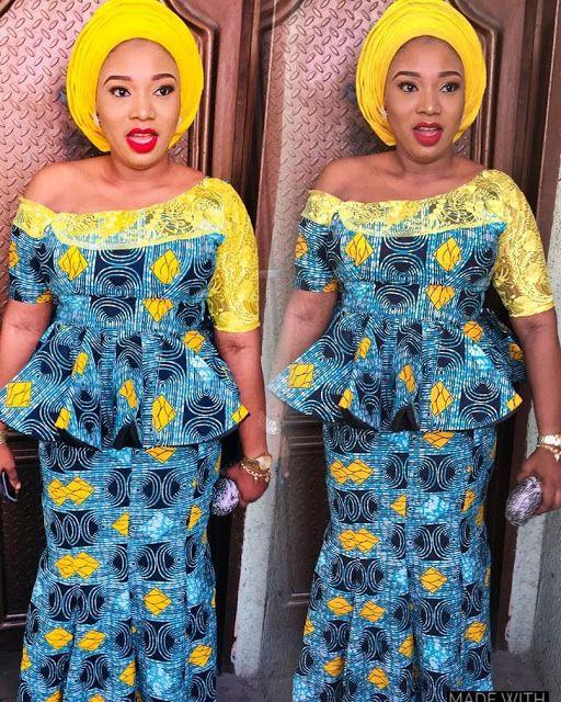 2019 Fascinating Ankara Skirt and Blouse
