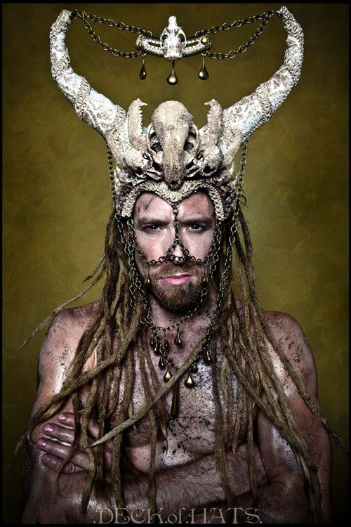 The goblin, Headdress and Horns on Pinterest