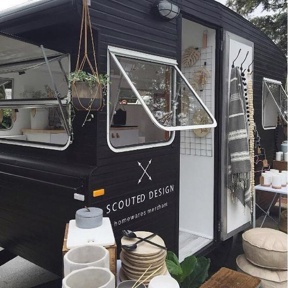 We've got a very cool #FridayFollow this week! Not only do Brisbane-based @scouteddesign sell beautiful homewares, they do popup shops in a CARAVAN! So great.