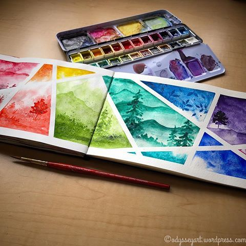 Playing On A Saturday Morning Qor Watercolors In Moleskine