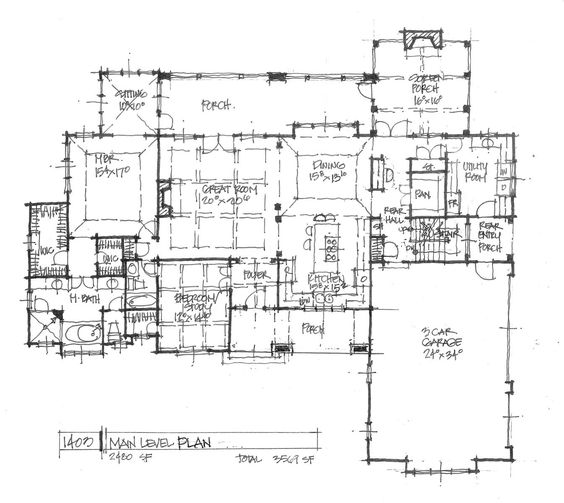 Conceptual design 1403 walkout basement design for Open floor house plans with walkout basement