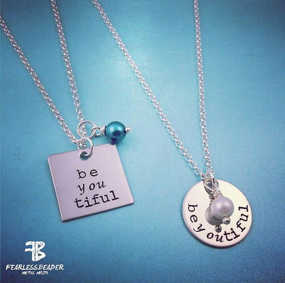 """Embrace your inner beauty and unleash your awesomeness! Or give this beYOUtiful necklace to a friend as a tribute to what an amazing person she is! Like Dr. Seuss says, """"There is no one alive who is You-er than You."""" And like The Fearless Beader says, """"Be sassy, be classy, and be courageous!"""" :)"""
