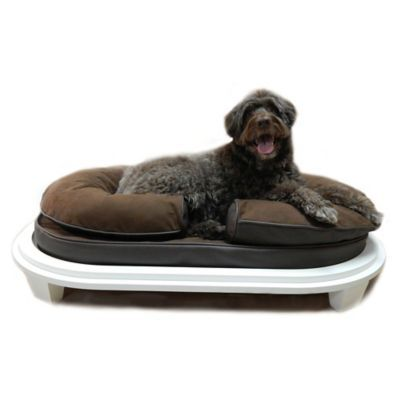 Katherine Elizabeth Charlie Ped Bed With Ottoman In Cocoa