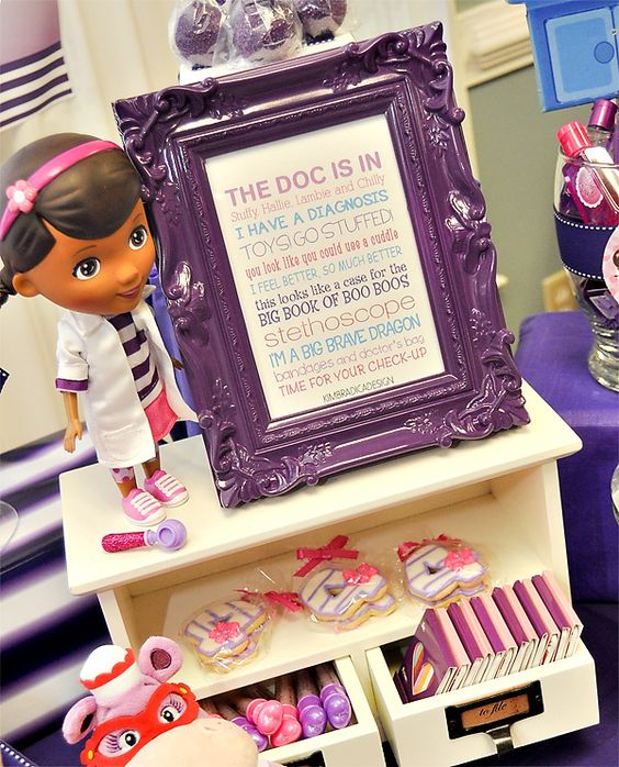 doc mcstuffins birthday party | Pink and Purple Doc McStuffins Party // Hostess with the Mostess®
