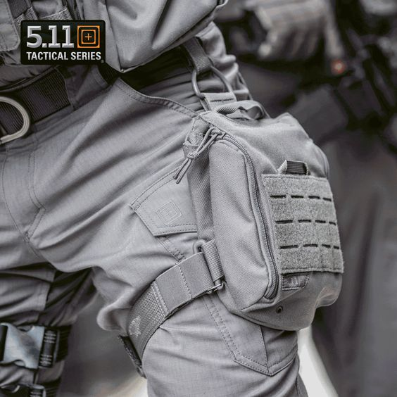5.11 UCR Thigh Rig comes with a drop front opening and 3 internal pockets…