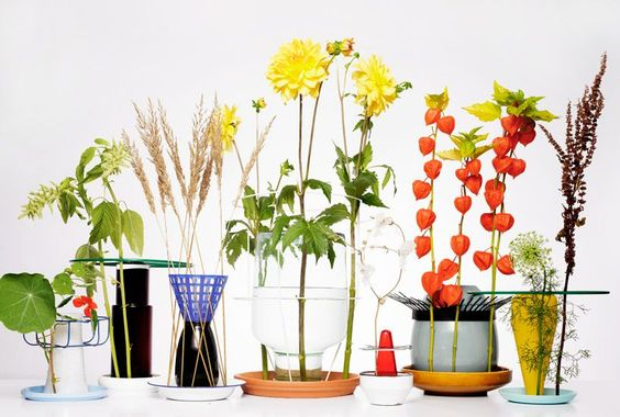 Self-watering plant holders by Chris Kabel via More Design Please
