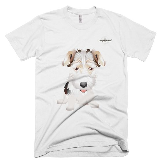 Fox Terrier - White - 100% Cotton - Unisex T-Shirt