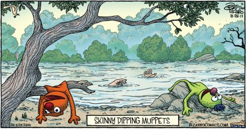 Skinny dipping muppets.