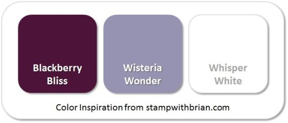 Stampin' Up! Color Inspiration: Blackberry Bliss, Wisteria Wonder, Whisper White: