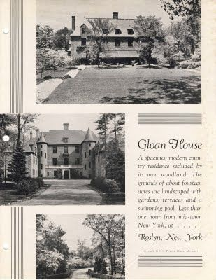 'Gloan House', the Dewees W. Dilworth estate designed by Jules Henri de Sibour c. 1930.