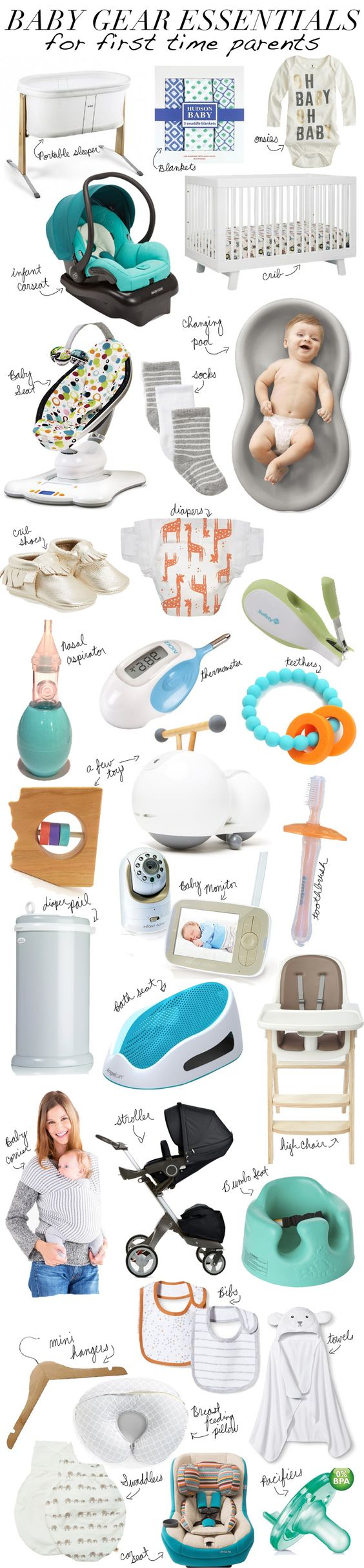 30 Essentials Every 1st Time Parent Needs On Their Registry | www.mommasociety.com
