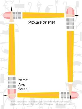 All About Me: This All About Me Booklet is a great way to get to know your students, get your year off to a great start, and save you time and money!  In this product you will receive printable worksheets that can be made into an All About Me Booklet, or kept as separate pages. You will receive the following worksheets: a Picture of Me Worksheet, a My Information Worksheet, a My Birthday Worksheet, A 2-page Getting to Know Me Facts Worksheet, a My Family Worksheet, and more!