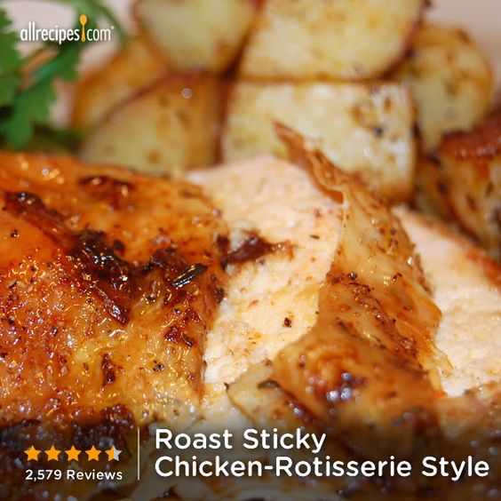 "Roast Sticky Chicken-Rotisserie Style | ""Ever wish you ..."