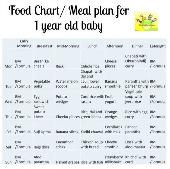 food chart meal plan for 12 months 1 year old baby shishuworld indian website for parents. Black Bedroom Furniture Sets. Home Design Ideas