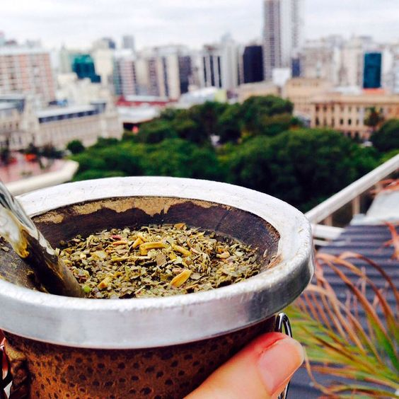 """Cold winter day matches hot """"mate"""" drink, perfectly  Cheers! _ Día frío de invierno y mate calentito son una perfecta combinación, Salud!  #BuenosAires #Argentina #turistaenbuenosaires #Turista #Tourist #tourism #Winter #Mate #HotDrinks #Photography #View"""
