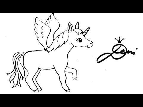 Springendes Pegasus Einhorn Zeichnen Lernen How To Draw A Jumping