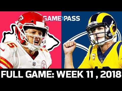 Kansas City Chiefs Vs Los Angeles Rams Week 11 2018 Full Game The Greatest Mnf Game Ever Youtube In 2020 Full Games Kansas City Chiefs Mnf Games