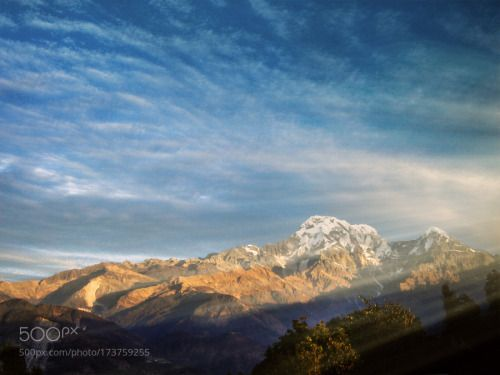 Pokhara Sunrise by ChristianSpiteri  morning mountains Nepal Kathmandu Pokhara Gandaki Zone Kaski District ChristianSpiteri