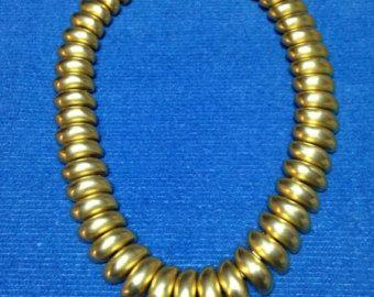 Vintage Les Bernard Inc Gold Tone Necklace