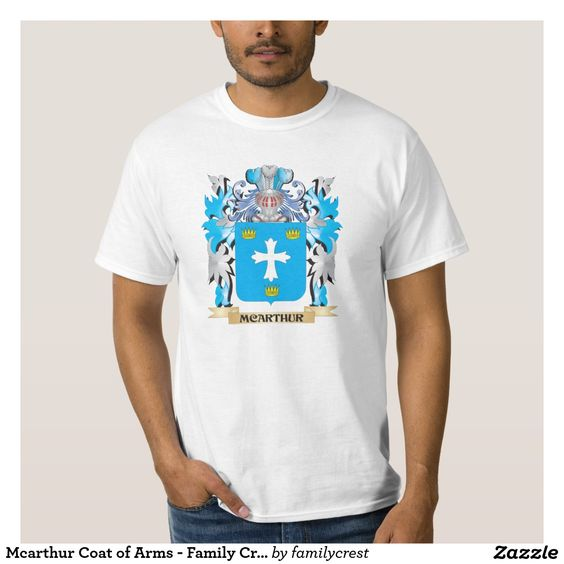 Mcarthur Coat of Arms - Family Crest T Shirt