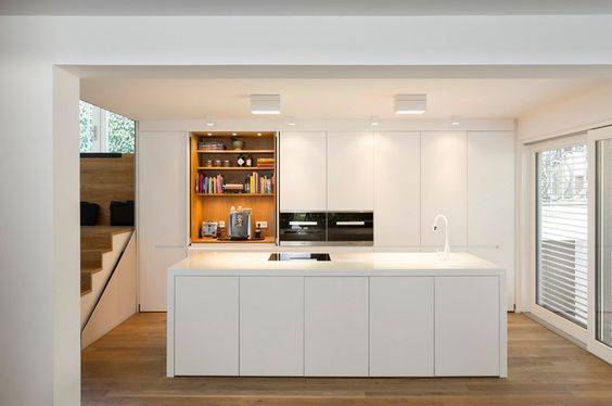 Ideal A family bulthaup b kitchen in warm tones of clay and structured oak designed and installed by hobsons choice in a property extension