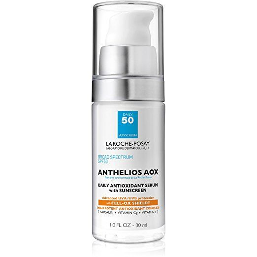 La Roche Posay Anthelios Aox Face Sunscreen Spf 50 Daily Antioxidant Face Serum With Sunscreen 1 Fl O Sonnencreme Furs Gesicht Vitamine Pflege Fur Olige Haut