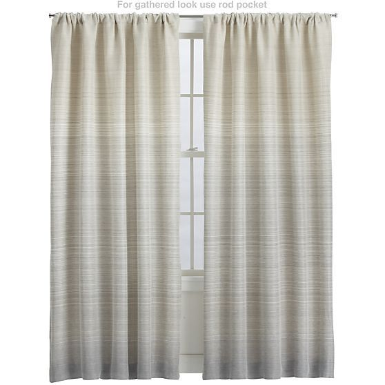 Shower Curtains crate and barrel shower curtains : Wren Curtain Panels in Curtains | Crate and Barrel | Master ...