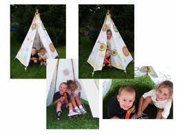 make an outdoor/playroom teepee for the kids