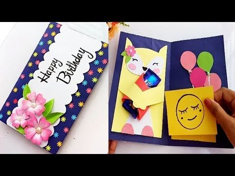 How To Make Birthday Gift Card Diy Greeting Cards For Birthday Youtube Greeting Cards Diy Birthday Gift Cards Diy Greeting Cards For Birthday