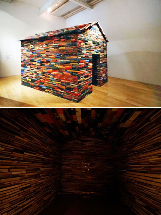 Buildings made out of books