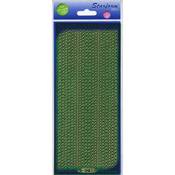 Glitter Dots Assorti Peel-Off Stickers-Green